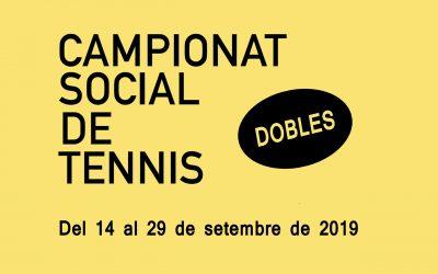 CAMPIONAT SOCIAL DE TENNIS – DOBLES