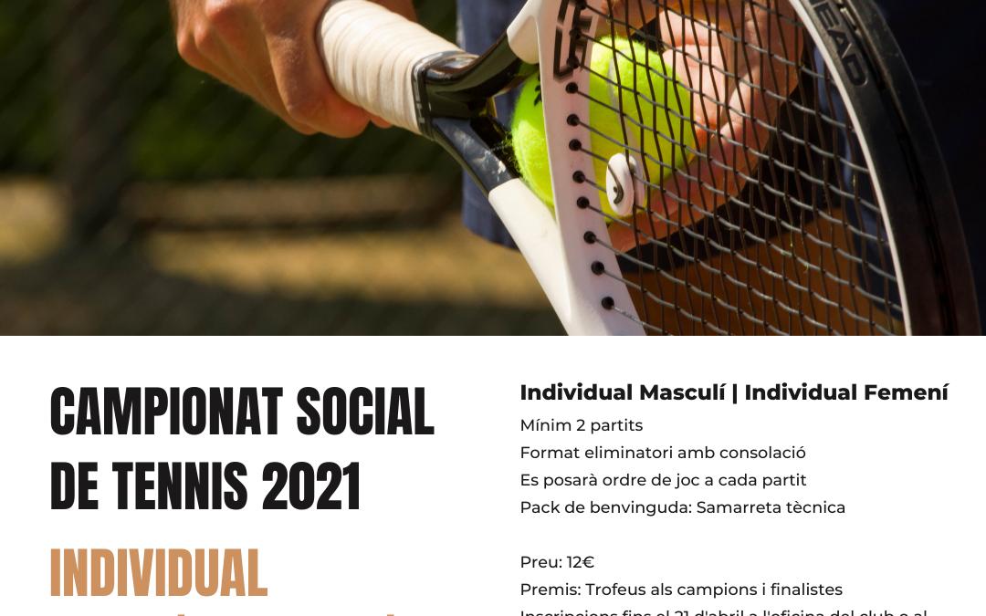 Campionat Social de Tennis 2021 (Individual)